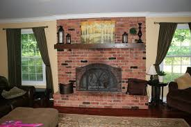 paint colors for living room with red brick fireplace modern house