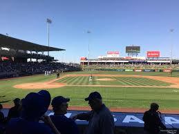 Cubs Park Mesa Az Seating Chart Sloan Park Section 114 Rateyourseats Com