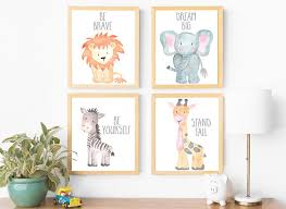 safari nursery wall art animal paintings baby prints for remodel 2  on baby safari nursery wall art with baby nursery wall art v sanctuary com pertaining to design 18