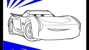 cars 3 jackson storm coloring book pages for children with colored markers