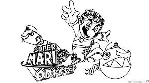 Coloring Pages Funny Super Mario Odyssey Coloring Pages Clipartree