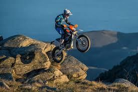 riding a dirt bike