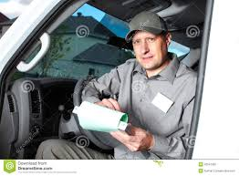 Handsome Truck Driver Stock Image Image Of Moving Industry 32541925
