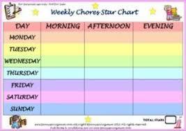 Weekly Star Chart Weekly Chores Star Chart Pdf Penny Saving Mum