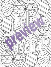 Semana Santa Y Pascua Spanish Easter Adult Coloring Pages Bundle