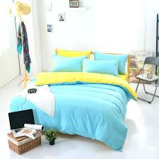 new arrival polyester brief blue yellow solid color queen twin full bedding bed sheet set bedclothes