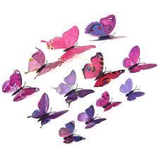 3d Butterfly Wall Decor 12pcs Pvc 3d Butterfly Wall Decor Cute Butterflies Wall Stickers
