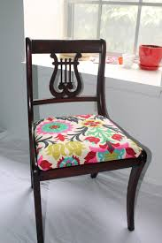 image of flower upholstery fabric for dining room chairs