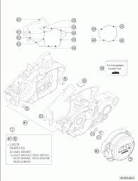 Engine case 125 200 2005