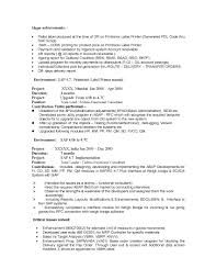 Sample Resume For Sap Abap 1 Year Of Experience Sap Abap Resumes for Experienced Sidemcicek 1