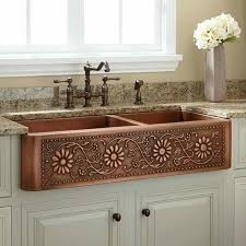 farm style sink.  Sink Beautiful Copper Farmstyle Sink I Like That Itu0027s Divided Also The  Prettiest Iu0027ve Seen And Farm Style Sink A