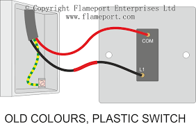 one way plastic switch connections old colours