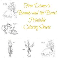 Small Picture Free Disneys Beauty and the Beast Printable Coloring Sheets