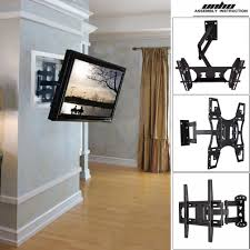unho universal tilt swivel articulating corner tv wall mount bracket 22 70 inch
