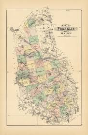 Map Of Franklin County Maine The Old Print Shop