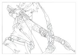 Coloring Page Of The Hero Link