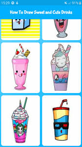 Cute coffee cup / clear coffee mug / tea cups / milk cups / coffee cups / 6 unique animal designs / coffee mugs / cute glass cups / 375ml. Amazon Com How To Draw Sweet And Cute Drinks Cute Drawing For Kids Appstore For Android