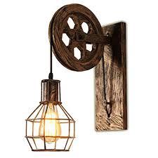 TopDeng Vintage Iron E26 <b>Wall lamp</b>, <b>Retro Creative</b> Wall Lights ...
