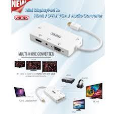 Cáp Chuyển Mini DisplayPort To HDMI VGA DVI Unitek 6354 - Hàng Chính Hãng -  Bộ chuyển đổi tín hiệu HDMI/VGA/DVI/DP