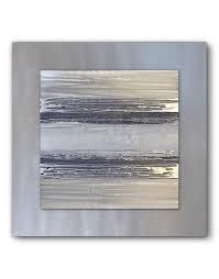 silver grey metal wall art