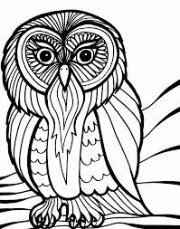 Small Picture Cartoon Owls Coloring Pages For Halloween Coloring Pages For All