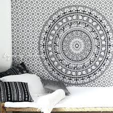 white black bohemian elephant mandala hippie wall tapestry small and large indian hanging uk single