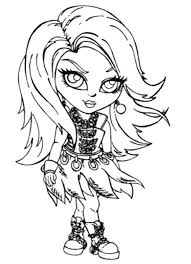 Small Picture Baby Spectra Vondergeist Coloring Page Monster High Coloring