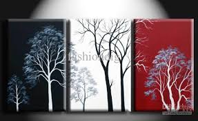 50 35 3pcs cm abstract wall tree black white red  on red black white wall art with 2018 abstract wall tree black white red oil painting canvas