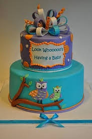 Owl Theme Baby Shower Cake  CakeCentralcomOwl Baby Shower Cakes For A Girl
