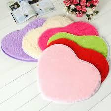 pure heart shaped thick bathroom carpet for living room anti slip bath mat cushion ornaments home decor bathroom accessories bathroom mat bathroom carpet