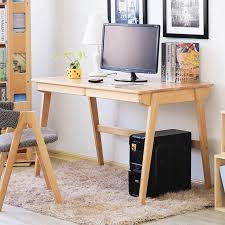Japanese office furniture Interior Japanese Simple Solid Beech Wood Computer Desk M12 Log Color Office Desk Modern Computer Table Kokuyo Japanese Simple Solid Beech Wood Computer Desk M12 Log Color