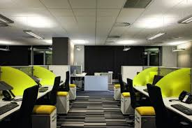 contemporary office design trends. on the extreme side is contemporary space with no closed perimeter offices, office design trends b