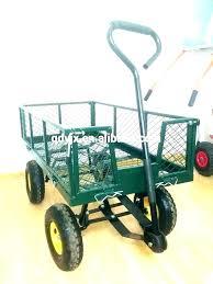 gorilla garden cart utility heavy duty yard and dump tires carts steel gor1001 com dut