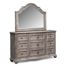 gray bedroom dresser. Wonderful Dresser Extraordinary Gray Weathered Painted Bedroom Dressers With Nine Drawers  Also Arched Top Mirror For Dresser D