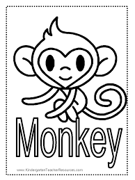 Monkey Worksheets And Coloring Pages Pictures Of Monkeys To Color