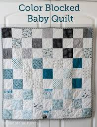 343 best Baby quilt ideas images on Pinterest | Baby kids ... & Color Blocked Patchwork Baby Quilt Tutorial; a Free Quilt Pattern Adamdwight.com