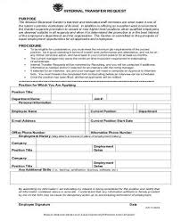 Internal Transfer Sample Employee Transfer Form 9 Examples In Word Pdf