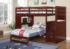 kids loft bed with desk. Twin Bunk Bed With Desk Underneath, Stairs, Storage Drawers, And Shelves - Custom Kids Loft
