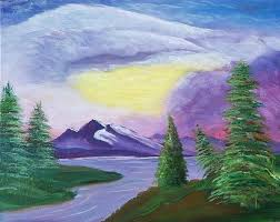 we welcome you to join us for an evening of painting this traditional style of bob ross learn how to paint more than just happy little trees