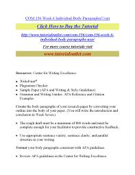 Com 156 Week 6 Individual Body Paragraphs By Vignesh070 Issuu