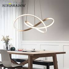 hot deal us 185 99 for home modern led pendant light for living room dining room hanging lamps led pendant lamps ceiling lamp fixtures gold white black