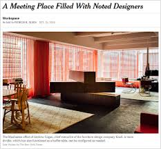 Executive Office Designs Magnificent Knoll CEO Andrew Cogan's Office In The New York Times Knoll