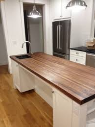 unlike stone or solid surface butcher block can be fabricated in a basement or garage work making it the perfect diy project to totally transform your