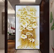 5D <b>DIY</b> diamond Painting lily flower <b>3D</b> Cross Stitch diamond ...