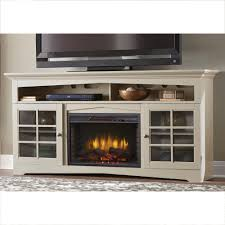 home decorators collection avondale grove 70 in tv stand infrared electric fireplace in aged white 365 187 165 y the home depot