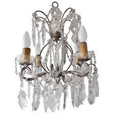 italian floine crystal prisms chandelier