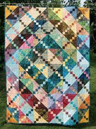 159 best Patchwork Quilt Color images on Pinterest | Quilting ... & Modern Scrappy Tropical Batik Lap Throw Quilt Bright Happy Colorful Rainbow  Baby Child Adamdwight.com