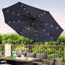 new in box 10 feet tilt crank outdoor tilt crank patio umbrella with led solar powered light for in los angeles ca offerup