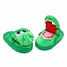 Stompeez Childrens Slippers Green Growling Dragon Size Small As Seen On Tv Nib Ebay