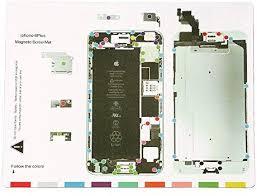 Magnetic Project Mat For Iphone 7 7plus 6 6s Plus 5s 5c 5 4s 4 Screw Mat Repair Guide Pad Screw Keeper Chart Map Professional Guide Pad